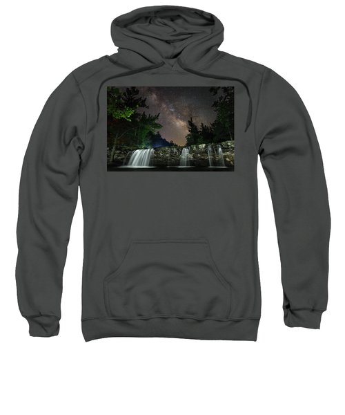 Milky Way Over Falling Waters Sweatshirt
