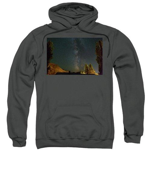 Milky Way Over Farmland In Central Oregon Sweatshirt