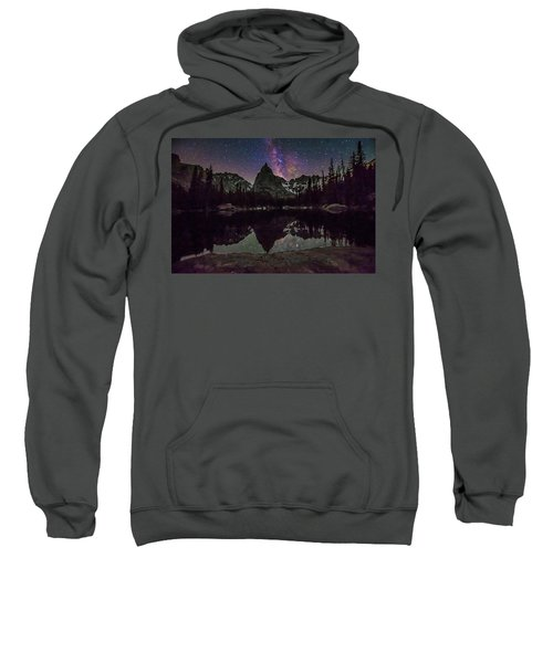 Milky Way Over Lone Eagle Peak And Mirror Lake Sweatshirt