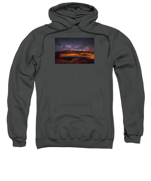 Milky Way Over Mesa Arch Sweatshirt