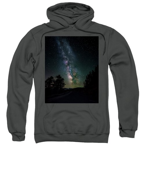 Milky Way Over Rocky Mountains Sweatshirt