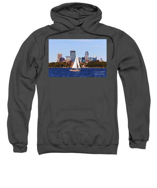 Minneapolis Skyline Lake Calhoun Sailing Sweatshirt