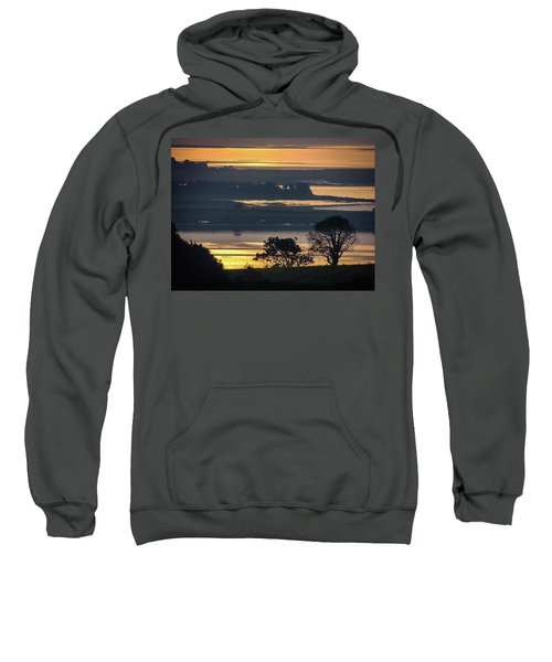 Sweatshirt featuring the photograph Misty Irish Morning On The Shannon by James Truett