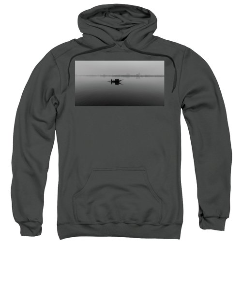 Sweatshirt featuring the photograph Misty Morning On The Lower Ganges by Chris Cousins