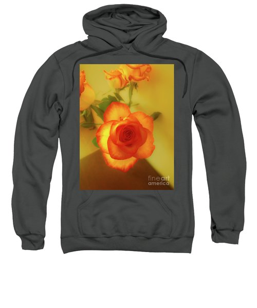 Misty Orange Rose Sweatshirt