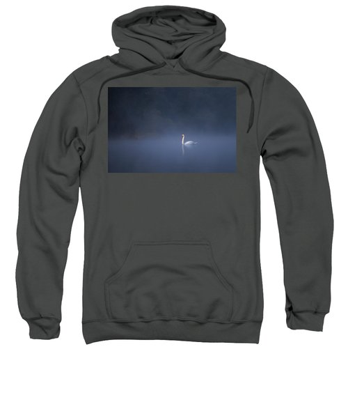 Misty River Swan Sweatshirt