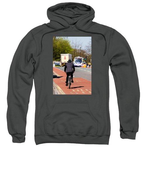 Modern Cowboy On Bike Sweatshirt