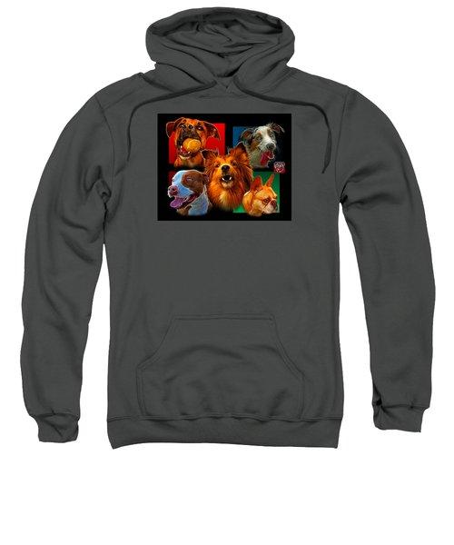 Modern Dog Art - 0001 Sweatshirt