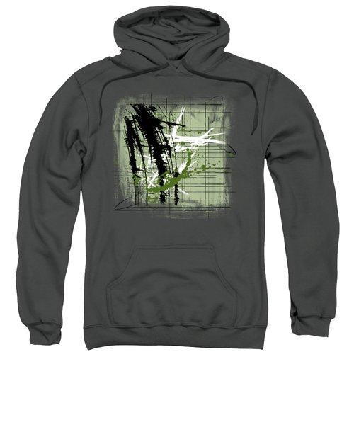 Modern Green Sweatshirt by Melissa Smith