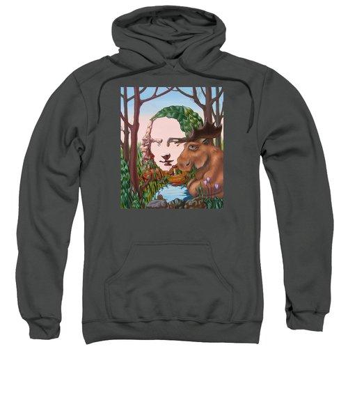 Mona Lisa . Earth Sweatshirt