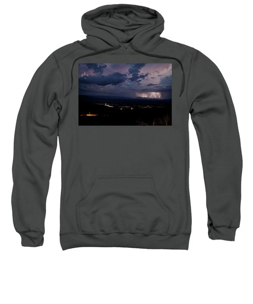 Monsoon Lightning Over Sedona From Jerome Az Sweatshirt