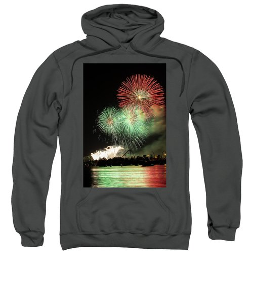 Montreal-fireworks Sweatshirt by Mircea Costina Photography