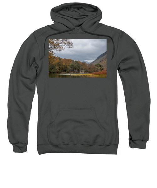 Moody Clouds Over A Boathouse On Wast Water In The Lake District Sweatshirt