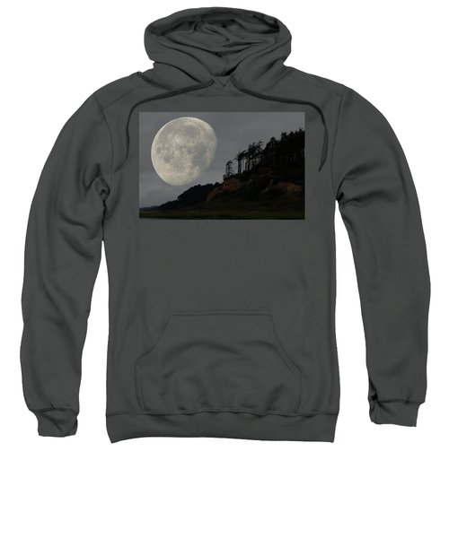 Moon At Roosevelt Beach Wa Sweatshirt
