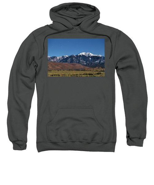 Moon Lit Colorado Great Sand Dunes Starry Night  Sweatshirt by James BO Insogna