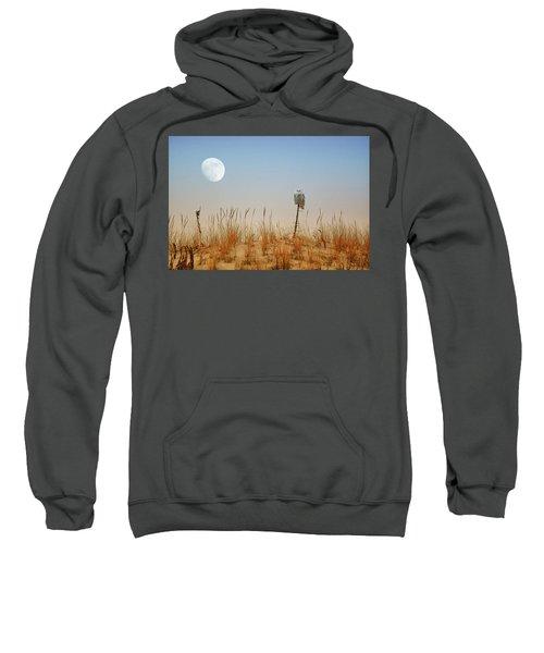 Moon Rise Snowy Owl Sweatshirt