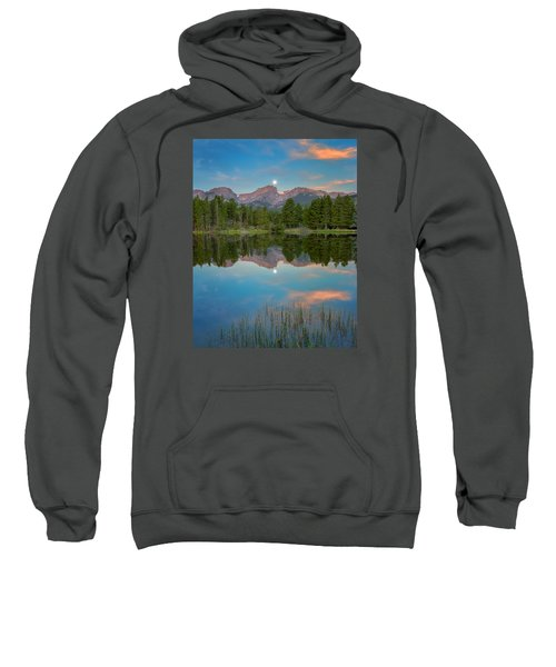 Full Moon Set Over Sprague Lake Sweatshirt