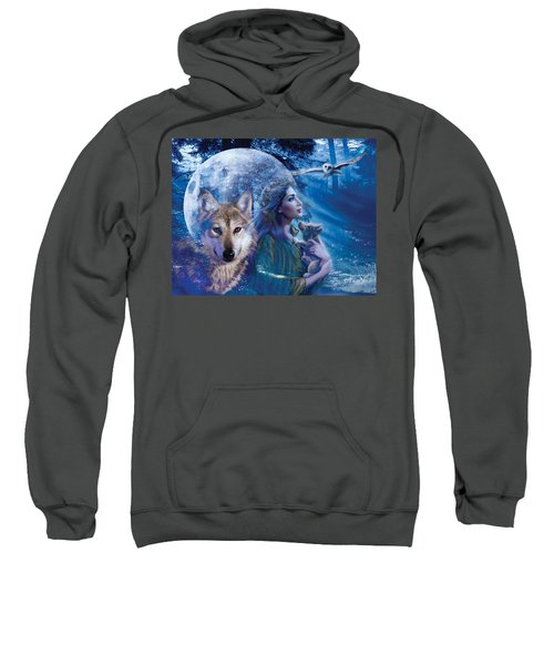 Moonlit Brethren Variant 1 Sweatshirt by Andrew Farley