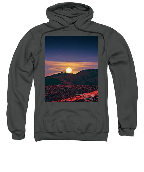 Moonrise In Northern New Mexico  Sweatshirt