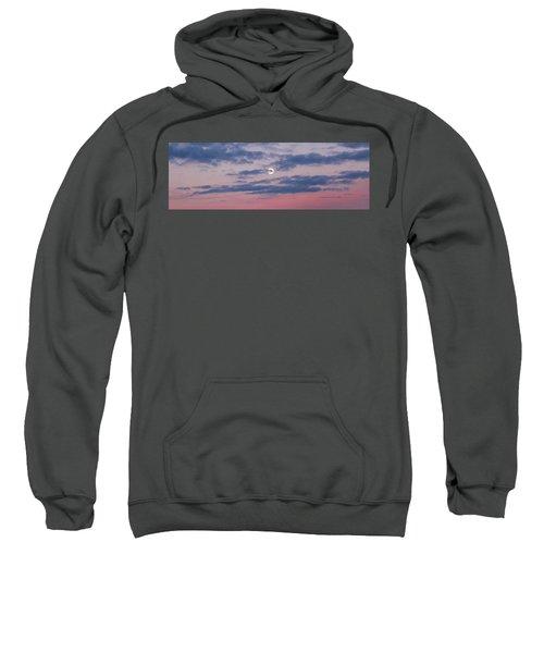 Moonrise In Pink Sky Sweatshirt