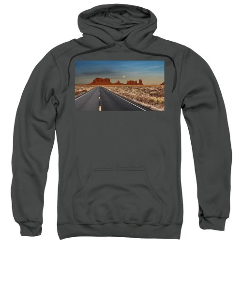 Moonrise Over Monument Valley Sweatshirt