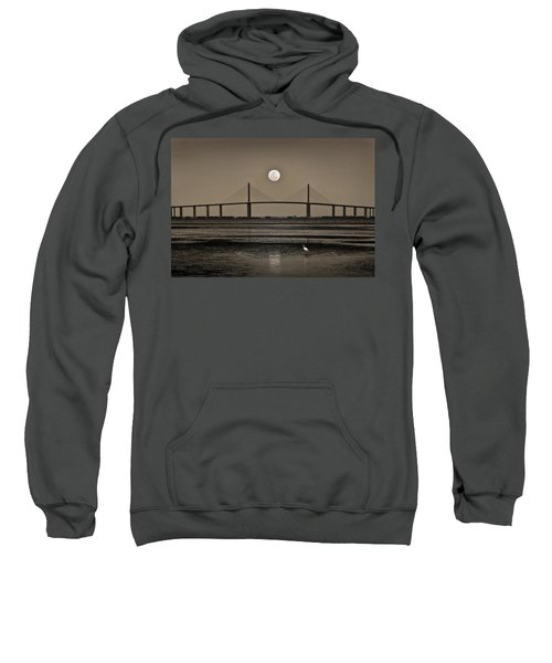 Moonrise Over Skyway Bridge Sweatshirt