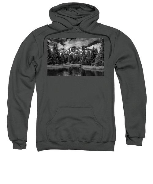 Moose At Schwabacher's Landing Sweatshirt