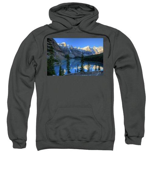 Moraine Lake Sunrise Blue Skies Sweatshirt