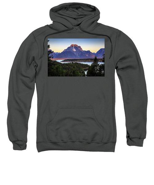 Sweatshirt featuring the photograph Morning At Mt. Moran by David Chandler