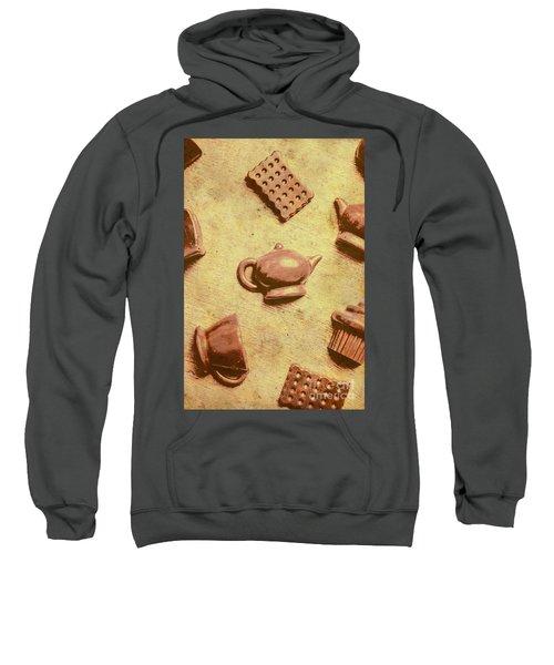 Morning Breakfast Chocolate Tea Set  Sweatshirt
