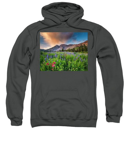 Morning Flowers In Little Cottonwood Canyon, Utah Sweatshirt