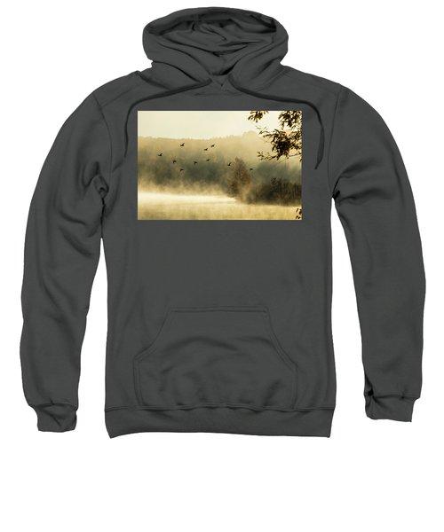 Morning Fog On Haley Pond In Rangeley Maine Sweatshirt
