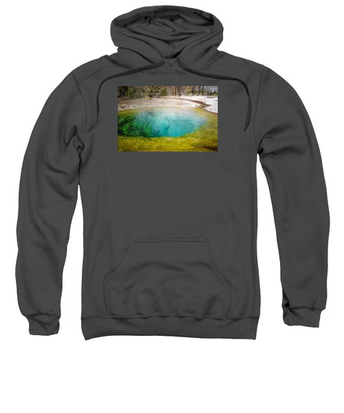 Morning Glory Pool Yellowstone National Park Sweatshirt