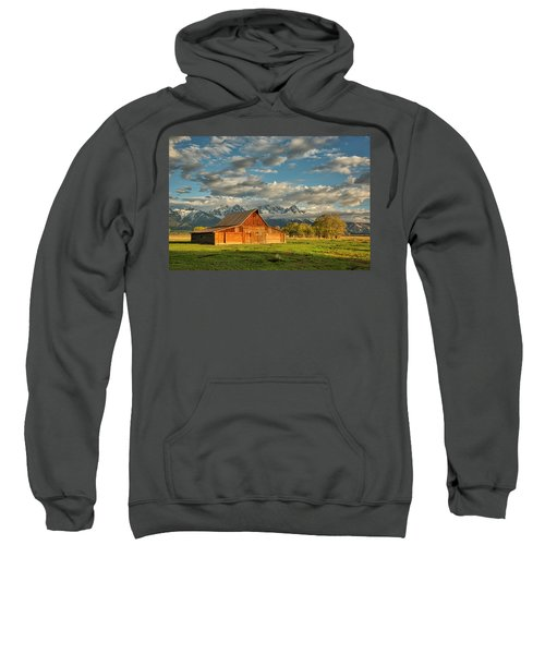 Morning Light On Moulton Barn #2 Sweatshirt