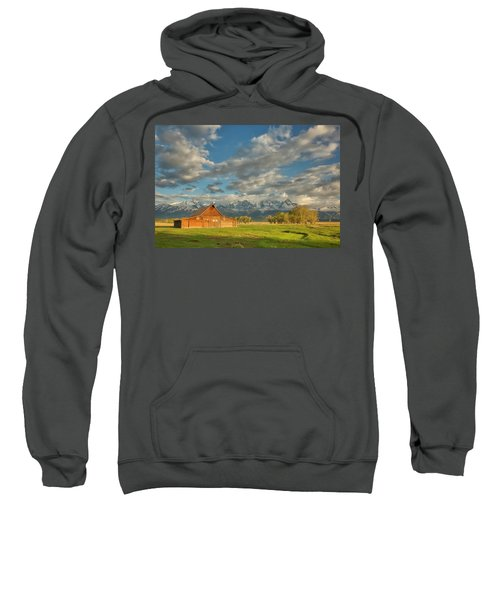 Morning Light On Moulton Barn Sweatshirt