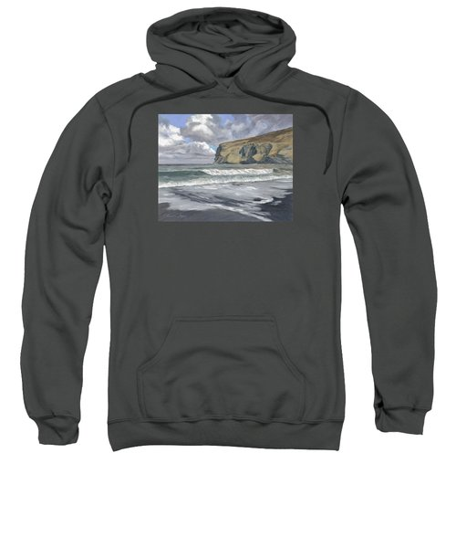 Sweatshirt featuring the painting Morning Light On Pencannow Point by Lawrence Dyer