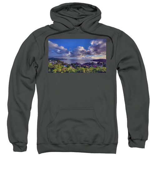 Morning Rain In Kaneohe Bay Sweatshirt