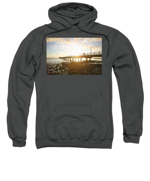 Morning Sunshine At The Pier  Sweatshirt