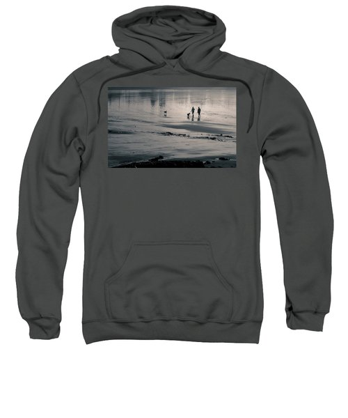 Morning Walk, Gooch's Beach, Kennebunk, Maine Sweatshirt
