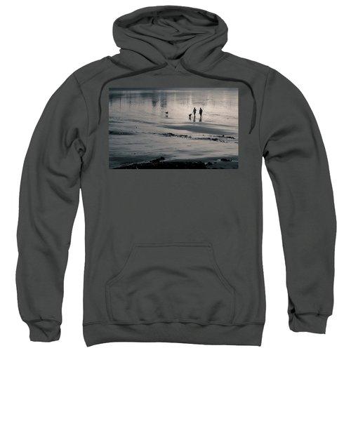 Morning Walk, Gooch's Beach, Kennebunk, Maine Sweatshirt