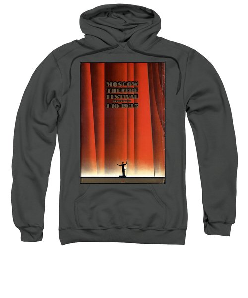 Moscow Theatre Festival 1935 - Russia - Retro Travel Poster - Vintage Poster Sweatshirt