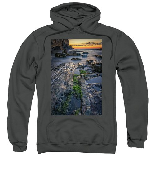 Mossy Rocks At Bald Head Cliff  Sweatshirt