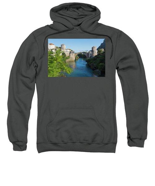 Mostar, Bosnia Herzegovina  The Single Arch Stari Most Or Old Bridge. Sweatshirt