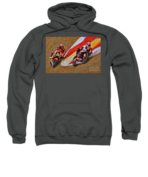 Moto2 Johann Zarco Leads Sam Lowes Sweatshirt