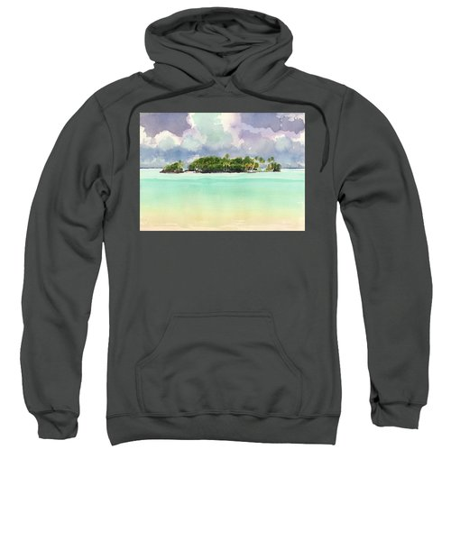 Motu Rapota, Aitutaki, Cook Islands, South Pacific Sweatshirt