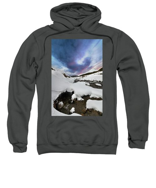 Mount Hood In Winter Sweatshirt