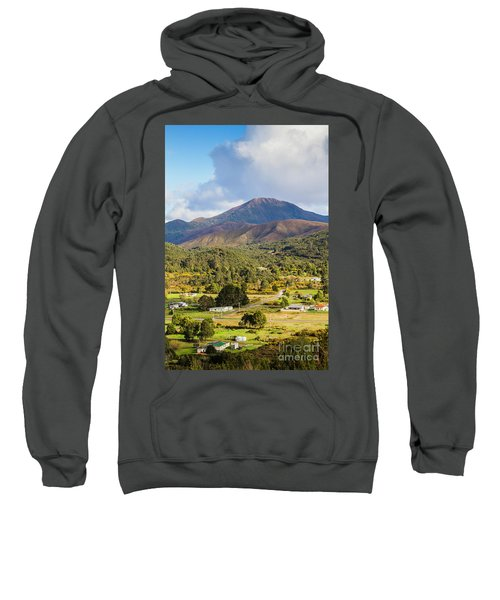 Mount Zeehan Valley Town. West Tasmania Australia Sweatshirt