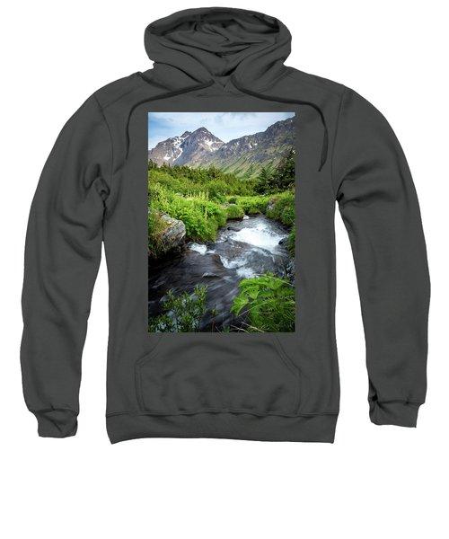 Mountain Creek In Early Summer Sweatshirt
