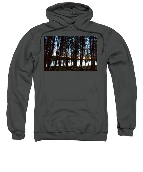 Sweatshirt featuring the photograph Mountain Forest Lake by James BO Insogna