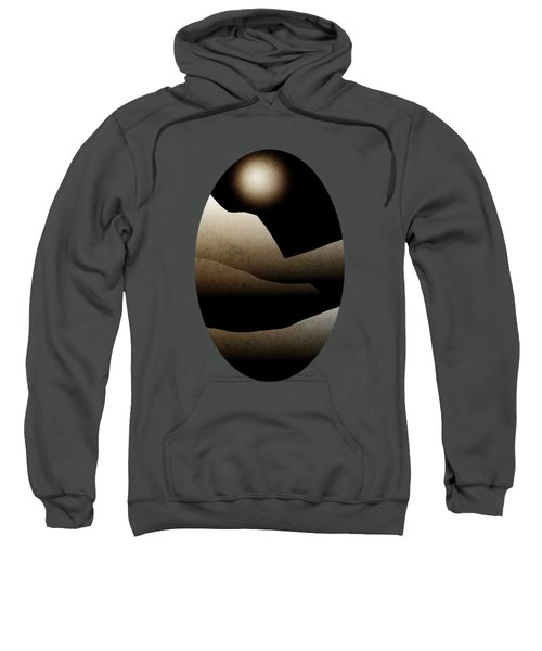 Mountain Moonlight Landscape Art Sweatshirt by Christina Rollo
